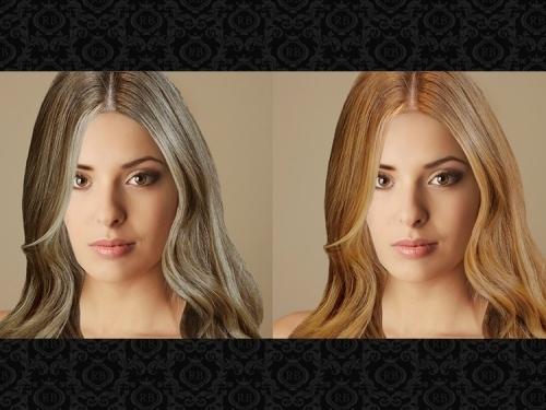 Фото 1: Холодный оттенок (слева) смотрится менее изящно и натурально, чем теплый (справа)