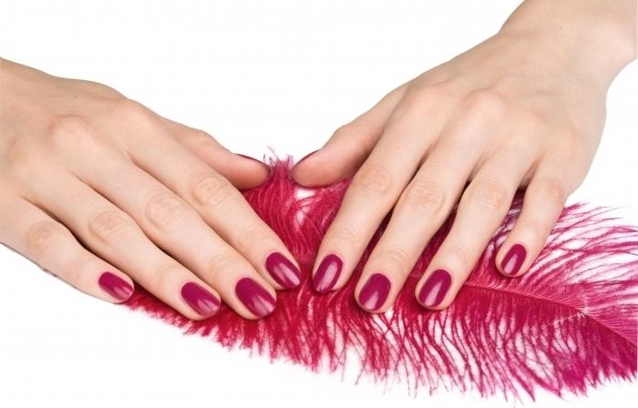 Коррекция наращивания на руках гель цветной