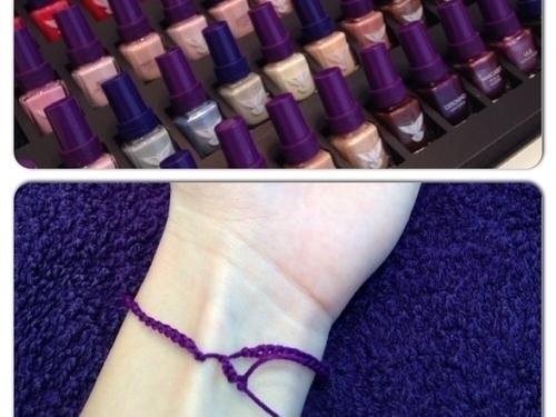 В завершении визита - 7 узелков на левую руку на удачу в цвет счастливого покрытия ногтей, которое подбиралось по дню недели вашего рождения, и предсказание на 2014.